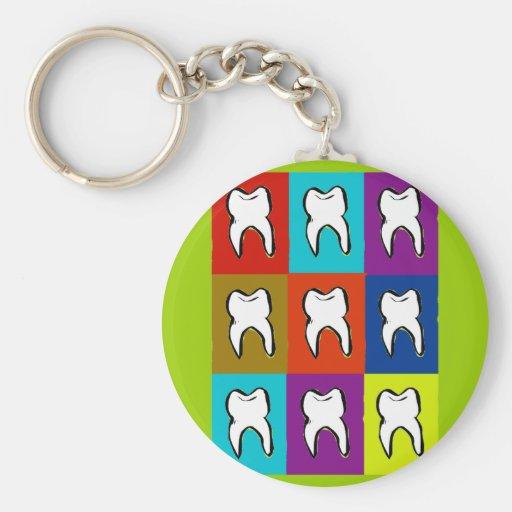 Dentist Popart Gifts Keychains