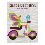 Dentist Poster Cute Tooth Fairy Scooter Girl 2