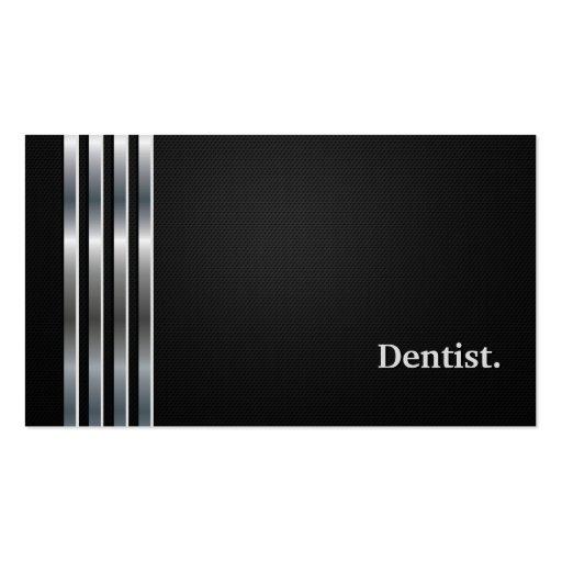 Dentist Professional Black Silver Business Card