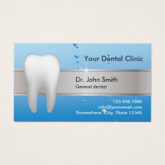 Dentist Professional Dental Appointment Business Card at Zazzle