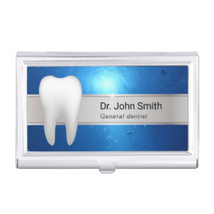 Dentist business card holders cases zazzle dentist professional dental case for business cards colourmoves