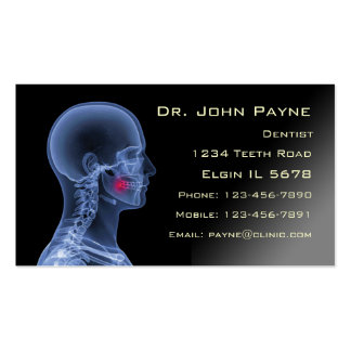 Dentist Profile Card Double-Sided Standard Business Cards (Pack Of 100)