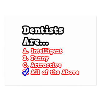Dentist Quiz...Joke Postcard