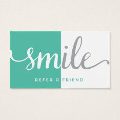 Dentist Referral Business Card at Zazzle