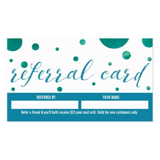 Dentist Referral Business Card | Zazzle
