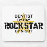 Dentist Rock Star by Night Mouse Pad