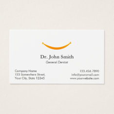 Dentist Simple Gold Smile Dental Appointment Business Card at Zazzle