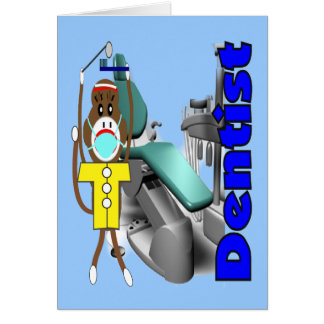 Dentist Sock Monkey--Adorable Cards
