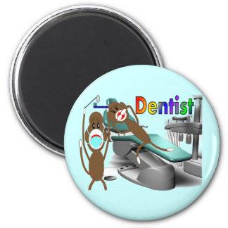Dentist Sock Monkey Gifts--Unique 2 Inch Round Magnet
