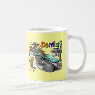 Dentist Sock Monkey Gifts--Unique Classic White Coffee Mug