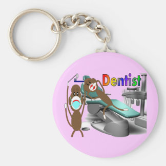 Dentist Sock Monkey Gifts--Unique Keychain