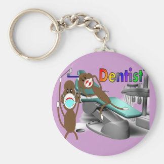 Dentist Sock Monkey Gifts--Unique Keychains