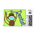 Dentist Sock Monkey Postage Stamps