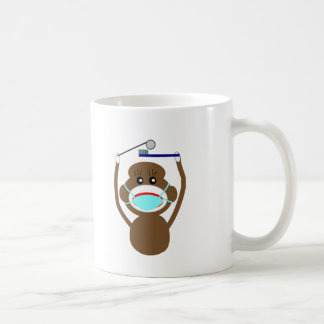 Dentist Sock Monkey Shirts and Gifts--Adorable Classic White Coffee Mug