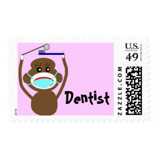 Dentist Sock Monkey Shirts and Gifts--Adorable Stamp