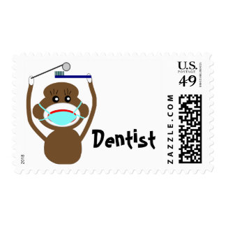 Dentist Sock Monkey Shirts and Gifts--Adorable Postage