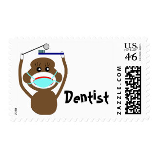 Dentist Sock Monkey Shirts and Gifts--Adorable Stamps