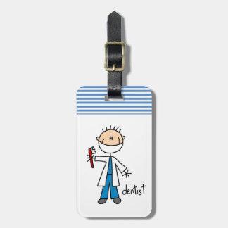 Dentist Stick Figure Bag Tag