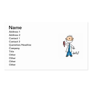 Dentist Stick Figure Double-Sided Standard Business Cards (Pack Of 100)