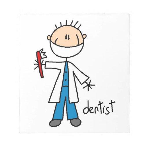 Dentist Stick Figure Note Pad