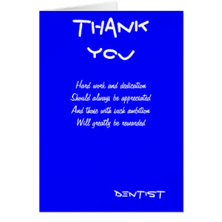Dentist thank you cards