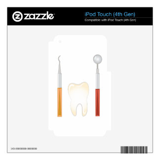 Dentist Tools Decals For iPod Touch 4G