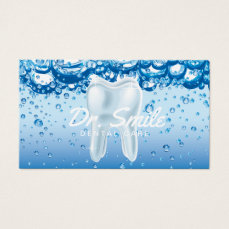 Dentist Tooth & Clean Water Dental Appointment Business Card