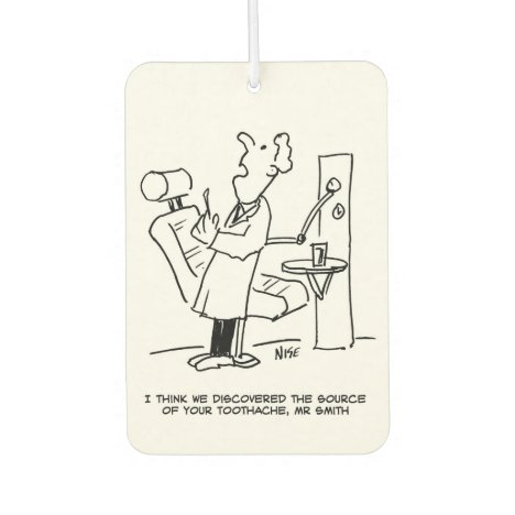 Dentist Treating a Patient Cartoon Air Freshener