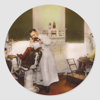 Dentist - Treating them like children 1922 Classic Round Sticker