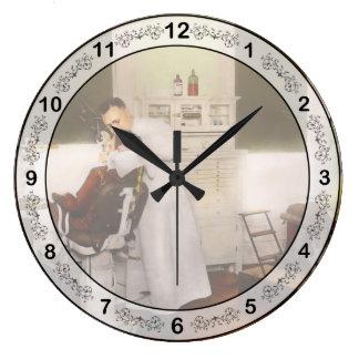 Dentist - Treating them like children 1922 Large Clock