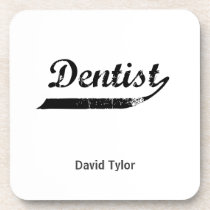 Dentist Typography Coaster