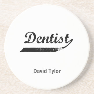 Dentist Typography Coasters