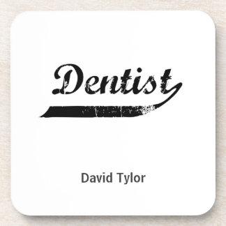 Dentist Typography Beverage Coasters