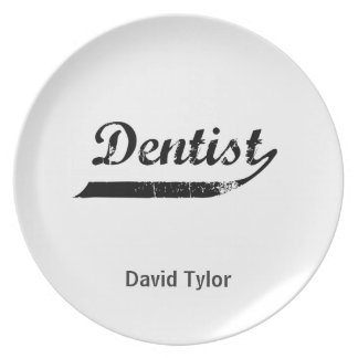 Dentist Typography Plate
