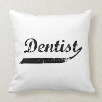 Dentist Typography Throw Pillow