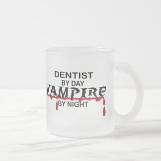 Dentist Vampire by Night Frosted Glass Coffee Mug