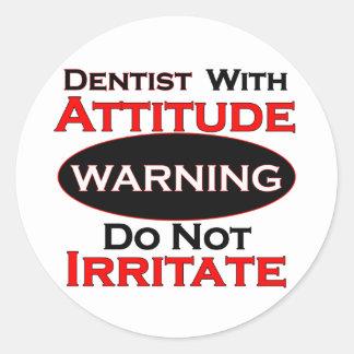 Dentist With Attitude Classic Round Sticker
