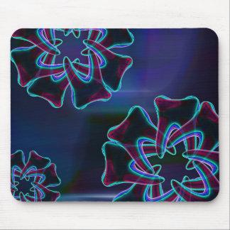 Dentista azul Mousepad del diseño floral del