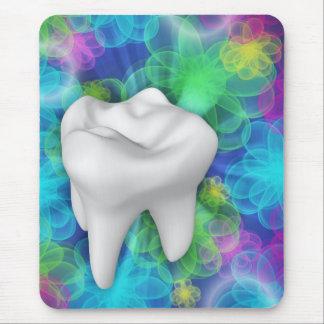 Dentista blanco Mousepad del diseño floral del