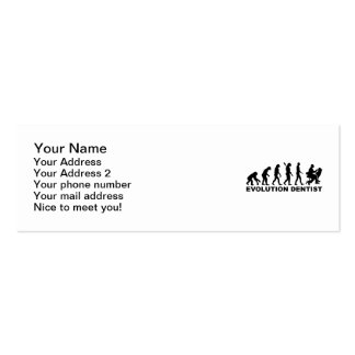 Dentista de la evolución tarjetas de visita mini