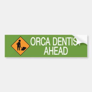 Dentista de la orca esta manera pegatina de parachoque