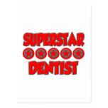 Dentista de la superestrella postales