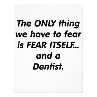 dentista del miedo flyer a todo color