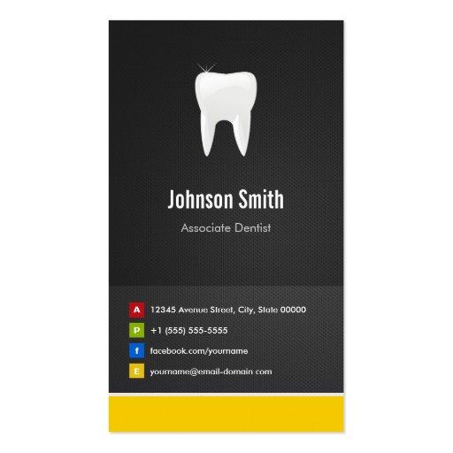Dentista del socio - innovador creativo dental tarjeta de visita