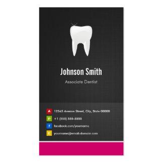 Dentista del socio - innovador creativo dental tarjeta de negocio