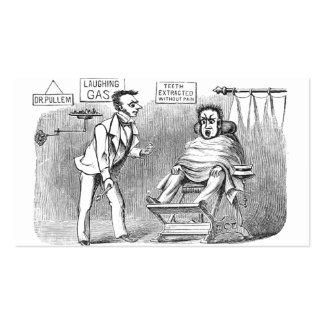 ¡Dentista del vintage, extrayendo los dientes sin Tarjetas De Visita