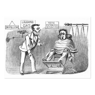 ¡Dentista del vintage, extrayendo los dientes sin Tarjetas De Visita Grandes