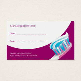 Dentista dental de la tarjeta el | de la cita tarjetas de visita