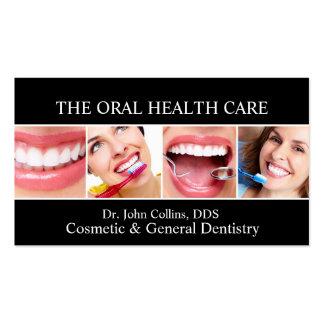 Dentista dental oral de la odontología de la tarjetas de visita