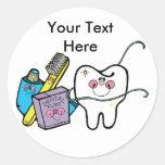 Dentista día 6 de marzo pegatina